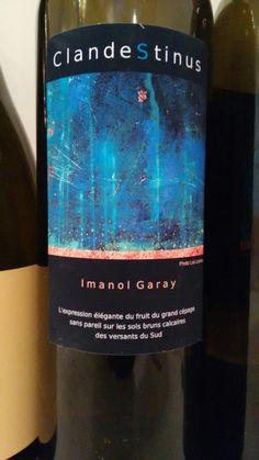 ClandeStinus 2015 - Vino de España - Bodegas Imanol Garay (St. Etienne de Baigorry, Francia)- Vino tinto con crianza cuyas uvas proceden de la Sierra de Izco (Navarra) pero la crianza y el embotellado sin filtración se hace en Francia. Realiza una fermentación espontánea en depósitos de hormigón en Navarra y 10 meses en barricas de roble francés de 700 litros y de 1 y 2 usos - 100% Garnacha - 13,5%