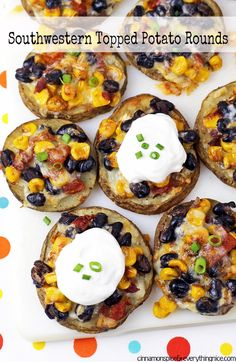 Southwestern Topped Potato Rounds