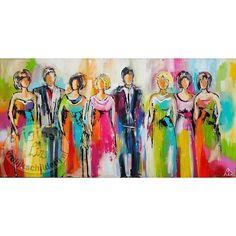 Kleurrijke Figuren - Vrolijk Schilderij