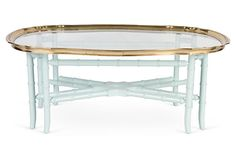 Brass Pie Crust Coffee Table