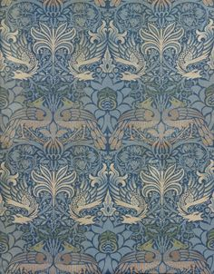 William Morris Peacock And Dragon Textile Design by William Morris - - Framed Art Prints, Poster Prints, Canvas Prints, Design Art Nouveau, Of Wallpaper, Wallpaper Designs, Designer Wallpaper, Art Nouveau Wallpaper, Paisley Wallpaper