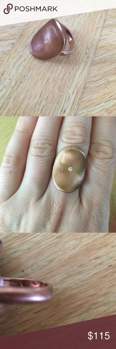 Gold 10K oval ring with diamond! Gold 10K oval ring with diamond! Jewelry Rings