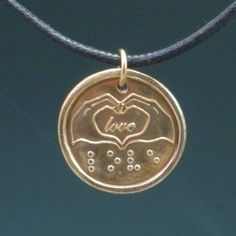 Love in Braille with a Heart in hands like Taylor by KFEHRdesigns,
