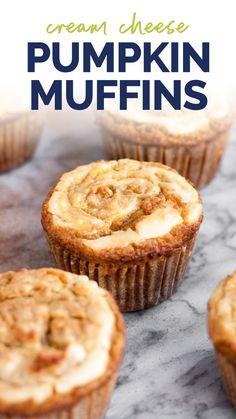 Keto Muffin Recipe, Healthy Muffin Recipes, Healthy Sweets, Healthy Low Carb Dinners, Low Carb Recipes, Cooking Recipes, Kitchen Recipes, Pumpkin Cream Cheese Muffins, Cheese Pumpkin