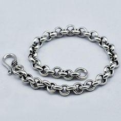 Men's Sterling Silver Rolo Chain Bracelet