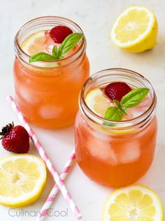 Food Photography Friday!  Strawberry Basil Lemonade | Culinary Cool