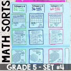 Looking for fun activities for your math stations?!  These math concept sorts are perfect to add to an independent math center.  Ways to use: whole group lesson, small group lesson, independent math center, assessment, or homework!Please view preview for more information and a free sort.* 5th Grade Math Standards Covered * 5.MD.1 - Sort 1: convert measurements within the same measuring systemSort 2: convert measurements within the same measuring system Sort 3: word problems5.MD.2 - Sort 4…