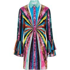 Hawk Long Sleeve Mini Dress | Moda Operandi ($1,140) via Polyvore featuring dresses