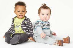 Carter's3件套装炭灰长袖连帽衫短袖T恤长裤全棉婴儿童装127G051-tmall.com天猫