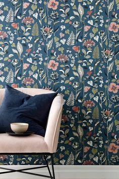 Wallpaper by ellos Tapet Svea - Blå - Hem & inredning - Ellos.se