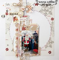 TERESA COLLINS DESIGN TEAM: Santa Love - Santa's List by Leslie Ashe