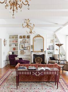 my domaine,living room,paris,saint germain,interiors,interior designStylish Saint-Germain Apartment | My Domaine