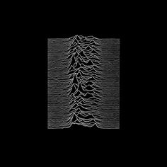 Joy Division - Unknown Pleasures (1979)  The front cover image comes from an edition of the Cambridge Encyclopedia of Astronomy, and was originally drawn with black lines on a white background. It presents successive pulses from the first pulsar (a highly magnetized, rotating neutron star that emits a beam of electromagnetic radiation) discovered, PSR B1919+21—often referred to in the context of this album by its older name, CP 1919. The image was suggested by Bernard Sumner.