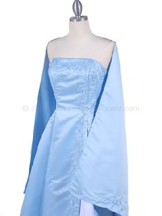 short baby blue prom dresses