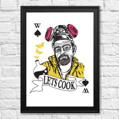 Breaking Bad Poster Walter White A3 Print by LynseyLuu on Etsy, £12.00