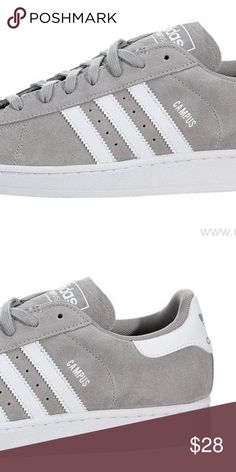b54b84e27 Adidas Campus Skate shoe Light Grey   White USED Adidas Campus Skate shoe  Light Grey   White Used Skateboarding Retro shoe Mens size 7 (fits women  will post ...