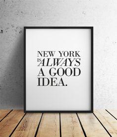 New York Poster // quote poster via DaWanda.com