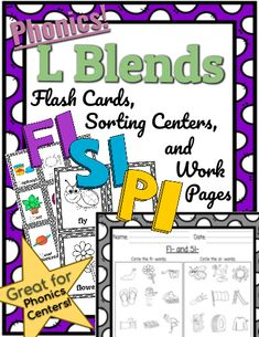 *Phonics* L Blends Flashcards, Centers, Wksts 2 Practice L Blends with this L Blend phonics pack from Kinspiration. Includes everything you need to teach L Blends from start to finish. L Blends, Phonics Blends, Phonics Lessons, Word Work, Spelling, Curriculum, How To Become, Classroom, Student