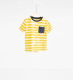 Bild 2 av Randig T-shirt från Zara Zara, T Shirts, Dillards, Boys, Women, Inspiration, Fashion, Striped T Shirts, Tee Shirts