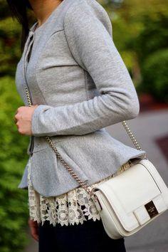 peplum blazer w/ lace top like!!!