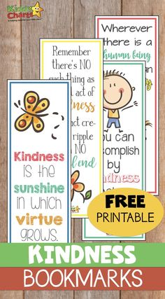Kindness For Kids, Books About Kindness, World Kindness Day, Random Acts Of Kindness Ideas For School, Kindness Matters, Free Printable Bookmarks, Bookmarks Kids, Free Printables, Paper Bookmarks