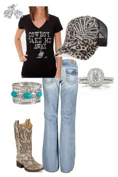 """""""Rodeo Time"""" by a-mcleod ❤ liked on Polyvore featuring Corral, BKE, Ali Dee Collection, Olive & Pique and Reeds Jewelers"""