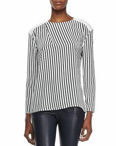J Brand Ready to Wear Richey Short-Sleeve Striped Tee