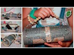 Daria Klleep - YouTube  Делаем сумочку из бобин от скотча. Смотрите МК.