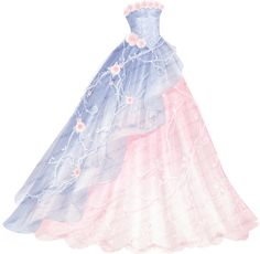 Crystal Rose can be obtained from the Achievement Star Stylist. A long, elegant ballgown with a pastel blue layer over a pastel pink layer. Dress Design Sketches, Fashion Design Drawings, Fashion Drawing Dresses, Fashion Dresses, Drawing Fashion, Dress Outfits, Dress Up, Rose Dress, Ball Dresses