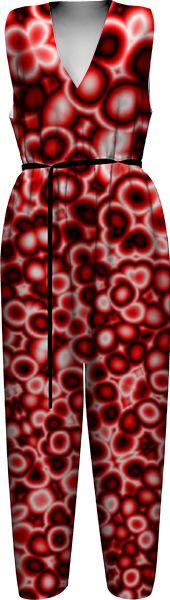alien-red-bubbles-3 WOMEN JUMPSUIT PAOM-VFS by kirstenstar