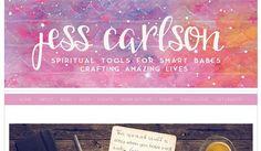 jess personal blog Watercolor Website Designs