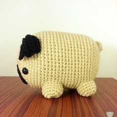 Maxi Fat Pug Amigurumi Plush