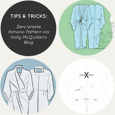 Tips & Tricks: Zero Waste Kimono Pattern via Holly McQuillan