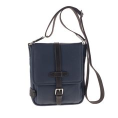 CHIARUGI - Borsa Tracolla 72606 blue #leather #leatherbag #men