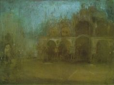 James McNeill Whistler - Nocturne Blue and Gold, St Mark's, Venice James Abbott Mcneill Whistler, Nocturne, Paul Morand, National Museum Of Wales, Diego Velazquez, Art Corner, Galerie D'art, Post Impressionism, Art For Art Sake