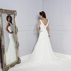 Back of Riley Wedding Dress - Amanda Wyatt Blue Iris 2015 Bridal Collection