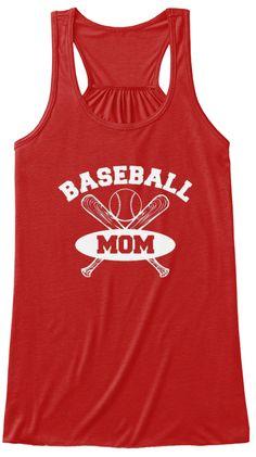 Baseball Mom Shirts 167 Red T-Shirt Front