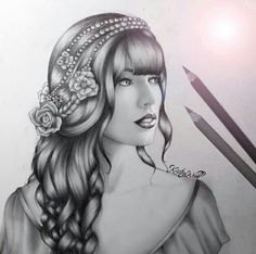 Taylor swift drawing by Kristina Webb