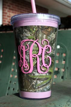 Camo Personalized Straw Cup - Starbucks!!!