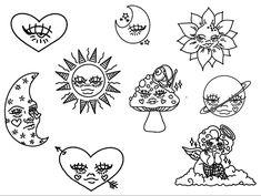 Dainty Tattoos, Pretty Tattoos, Small Tattoos, Tattoo Sketches, Tattoo Drawings, Art Sketches, Stick Poke Tattoo, Mini Drawings, Simple Drawings