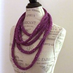 Easy Necklace Knitting Pattern!