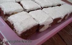 Kókuszos-foltos kocka (bögrés) recept Karamella konyhájából - Receptneked.hu Top 5, Holiday Dinner, Kefir, Cake Cookies, Cheesecake, Menu, Cooking Recipes, Tasty, Sweets