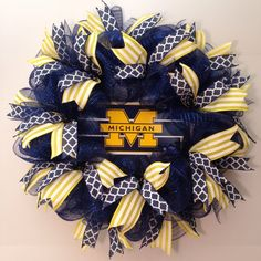 University of Michigan wreath - U of M Wolverines