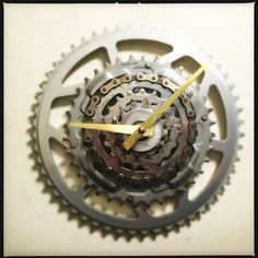 Wondering what to do with old bike parts? I made A Bicycle Gear Wall Clock from Bike Gears and Bicycle Chain. This Recycle Bike Parts Clock is