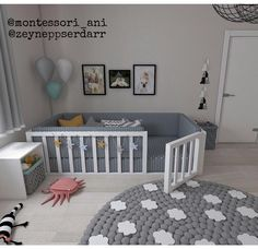 Montessori Bett Efes Montessori - Welcome Toddler Floor Bed, Diy Toddler Bed, Toddler Room Decor, Baby Room Decor, Unique Toddler Beds, Baby Floor Bed, Toddler Bedroom Ideas, Baby And Toddler Shared Room, Baby Room Diy
