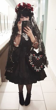 """sweet-ami: """"One of my favorite coords Skirt: Mousita Bag: puvithel Ring(third photo):voodooodolly """""""