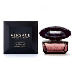 Versace Crystal Noir edp 90 ml spray - Perfumeria Ana Versace Crystal Noir, Essential Oils, Perfume Bottles, Crystals, Sister Sister, Beauty, Cologne, Html, Designer
