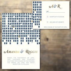100 for less than $1,000 - Artsy pattern Letterpress Wedding Invitations - Thick paper, Lined envelopes - 2-color. Additional Quantities in dropdown by afinepress on Etsy