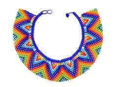 Afbeeldingsresultaat voor como hacer collares en mostacilla checa paso a paso Seed Bead Jewelry, Seed Beads, Beaded Jewelry, Diy Jewelry, Collar Macrame, Beaded Collar, Crochet Necklace, Beaded Necklace, Brick Stitch Earrings
