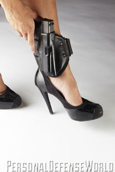 To draw quickly from your ankle, lift your pant leg fully over the top of the holster.